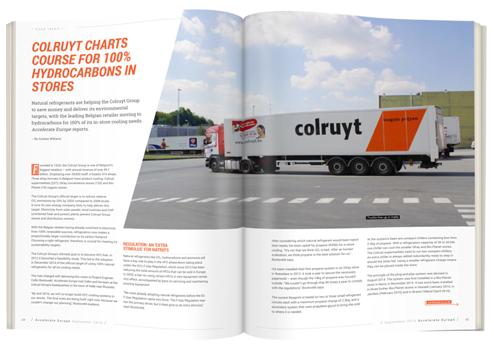 Colruyt charts course for 100% hydrocarbons