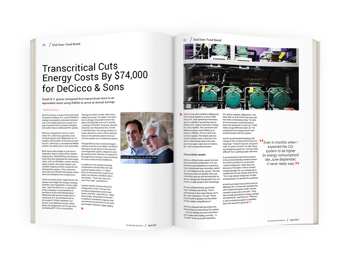 Transcritical Cuts Energy Costs By $74,000 for DeCicco & Sons