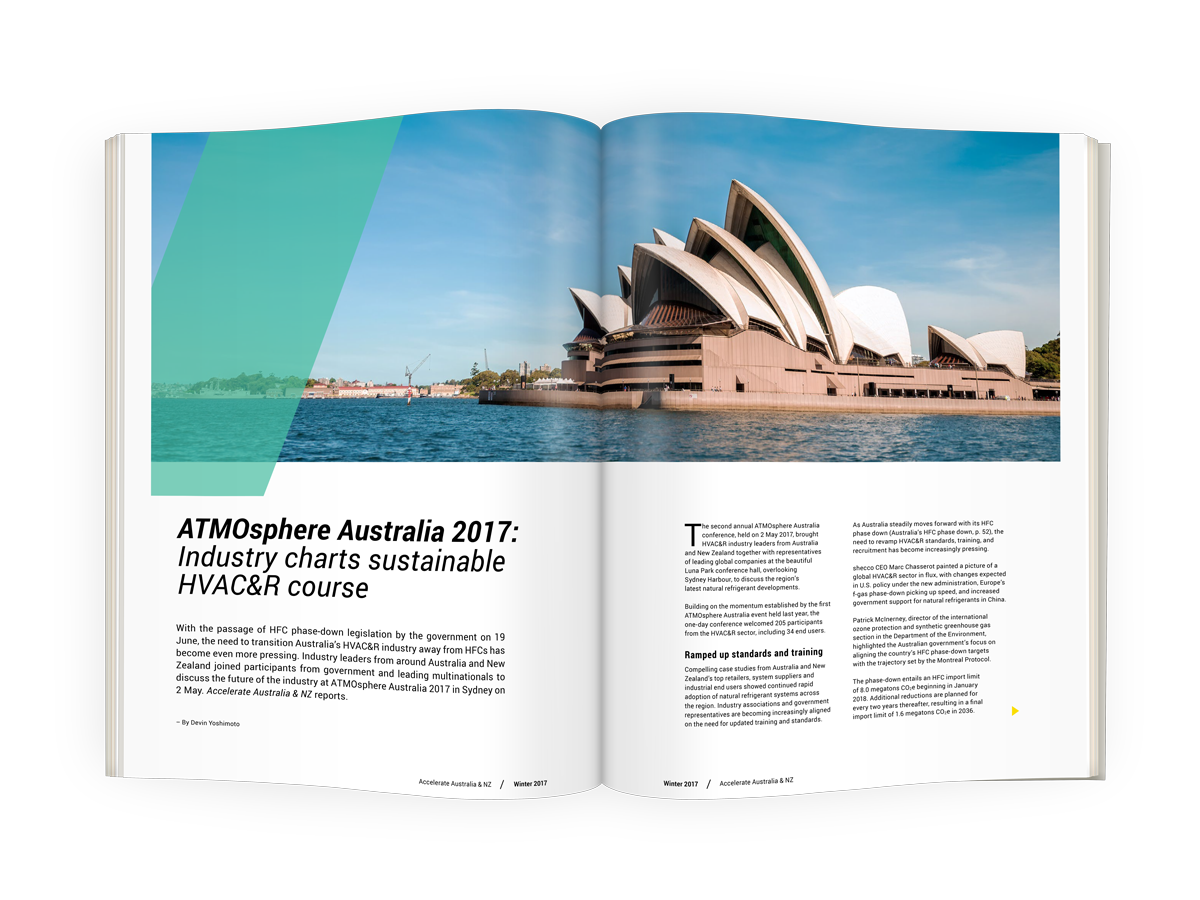 ATMO Australia 2017: Industry charts sustainable HVAC&R course