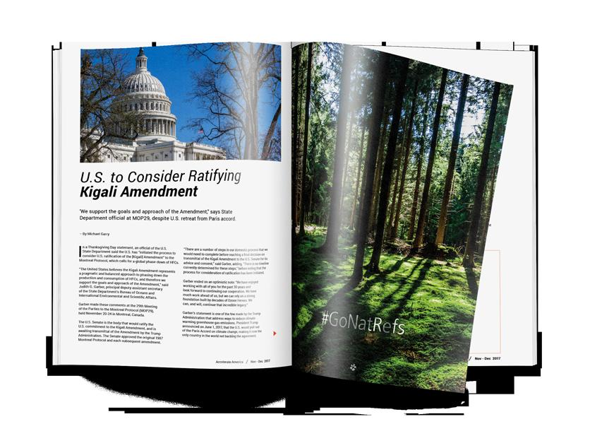 U.S. to Consider Ratifying Kigali Amendment