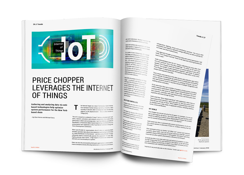 PRICE CHOPPER LEVERAGES THE INTERNET OF THINGS