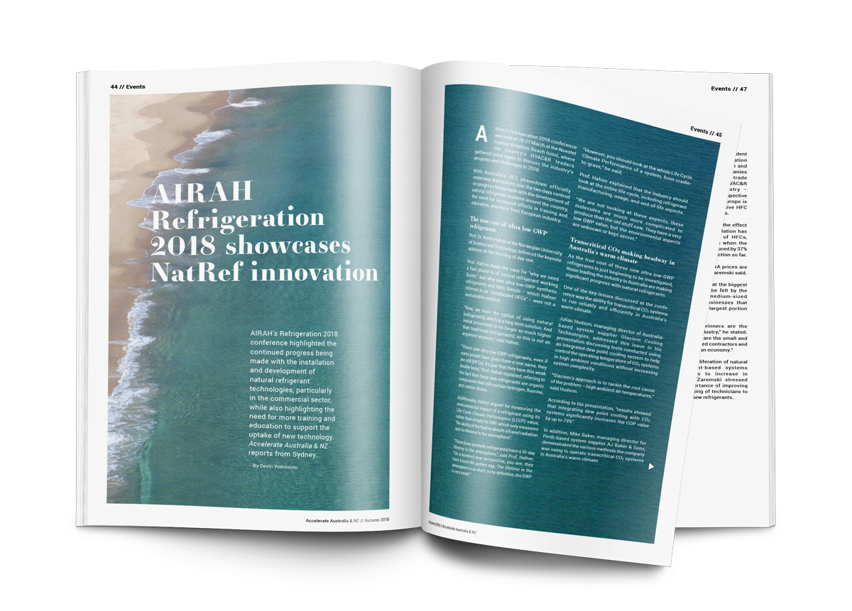AIRAH Refrigeration 2018 showcases NatRef innovation