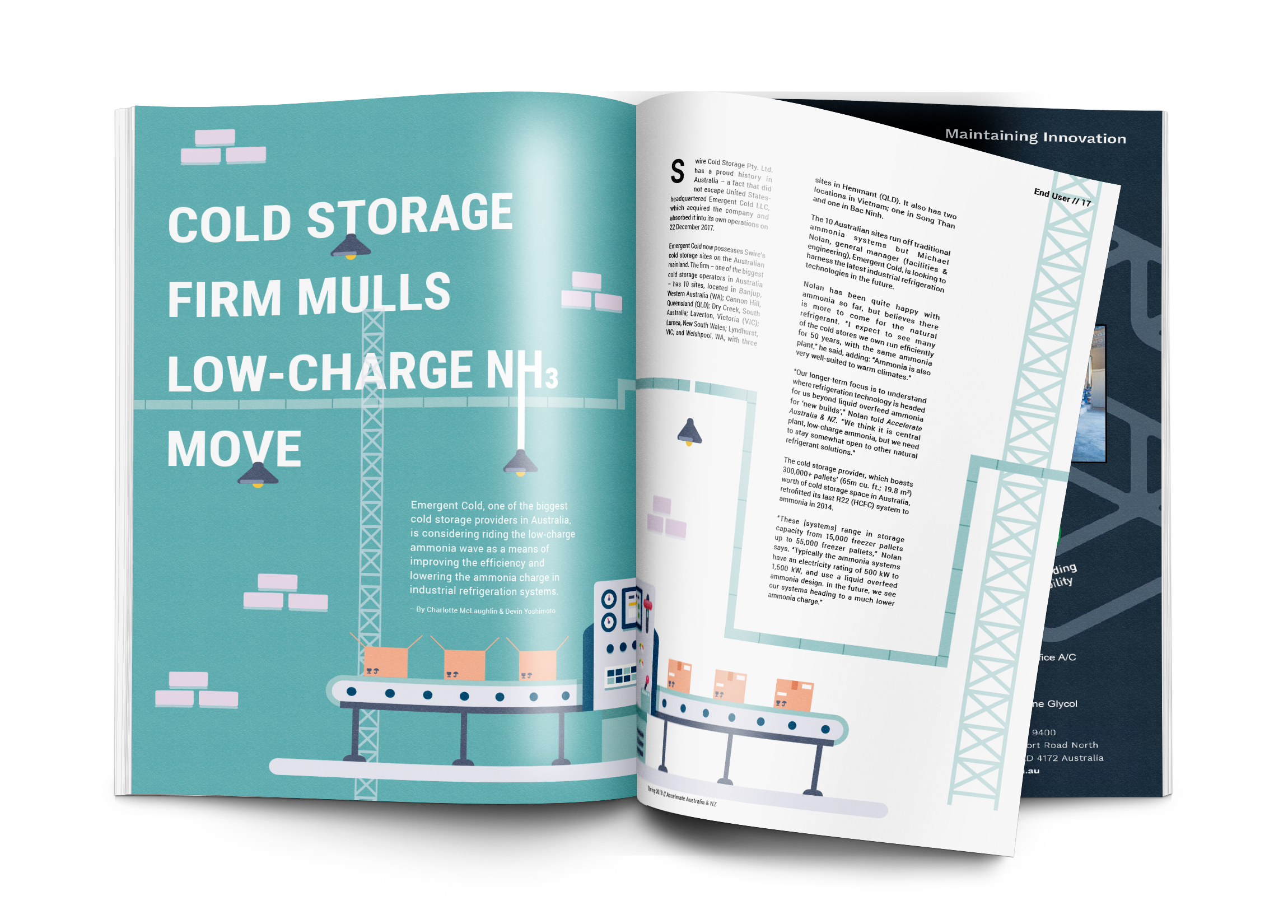 Cold storage firm mulls low-charge NH3 move