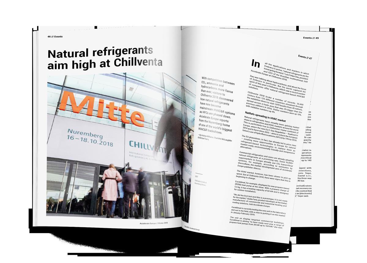 Natural refrigerants aim high at Chillventa