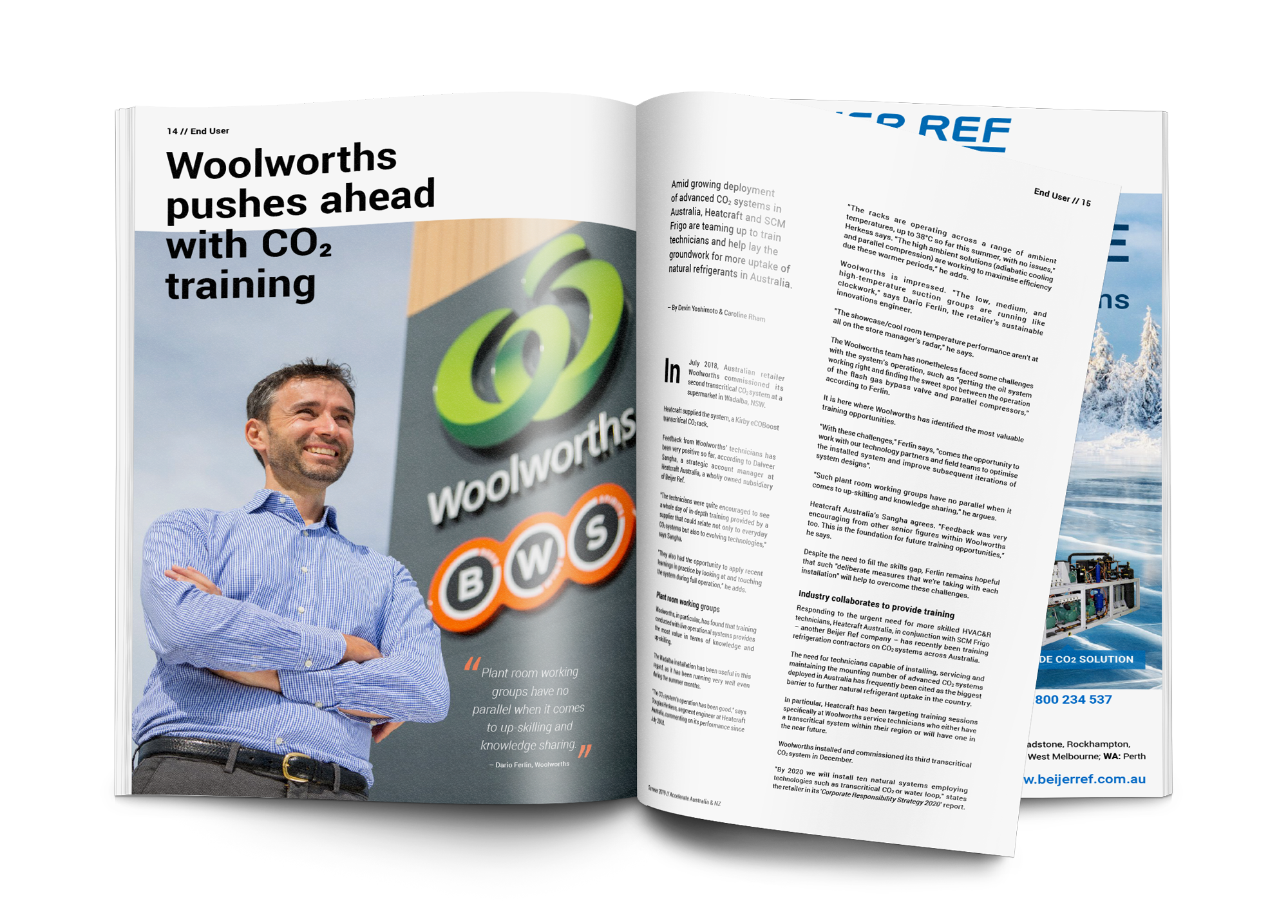 Woolworths pushes ahead with CO2 training
