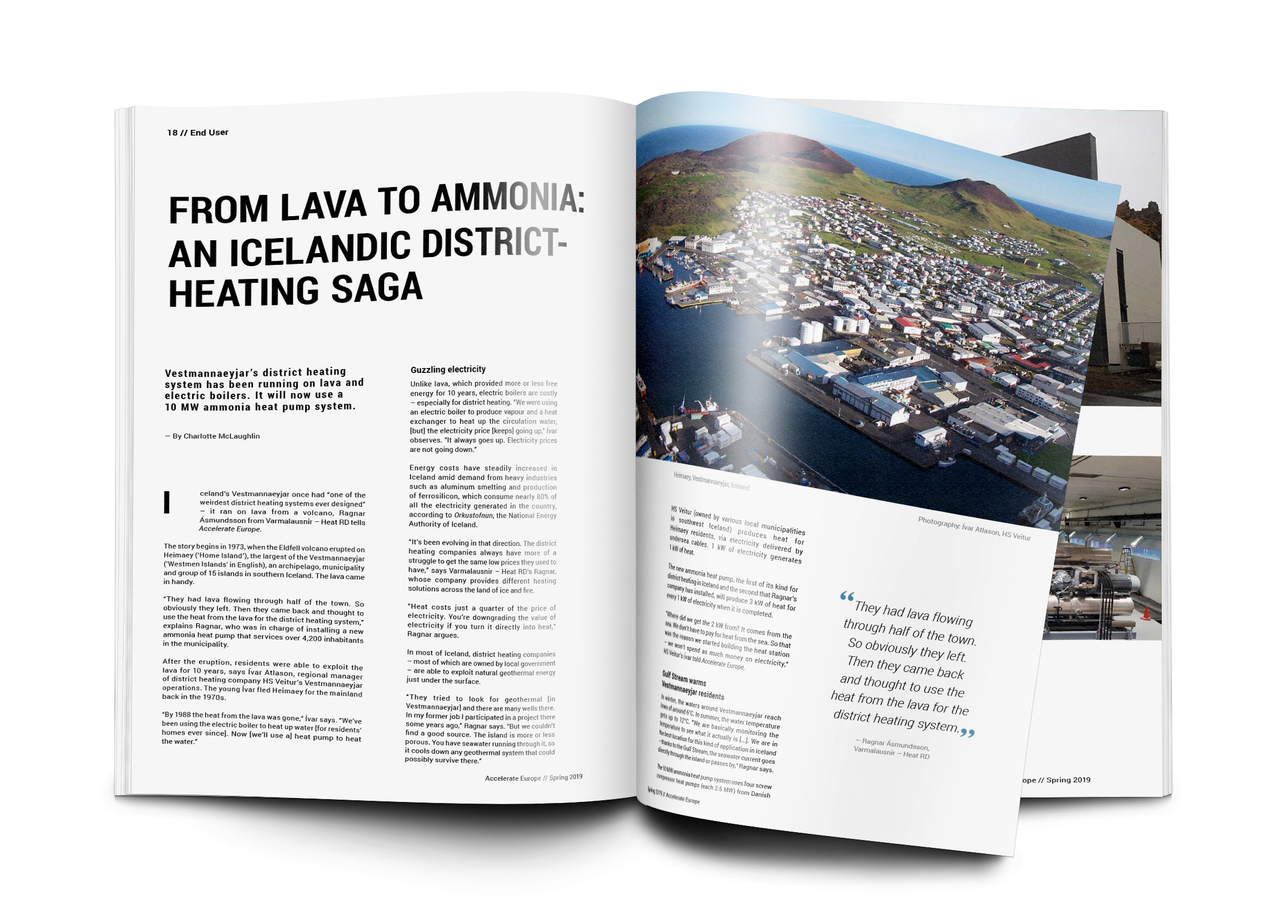 From lava to ammonia: An Icelandic district-heating saga